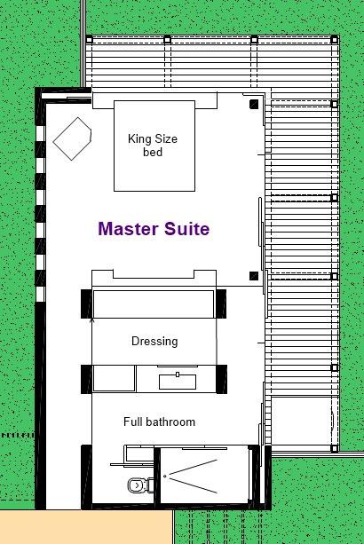 Villa Sofia – Floorplans – Master Suite – Floorplan