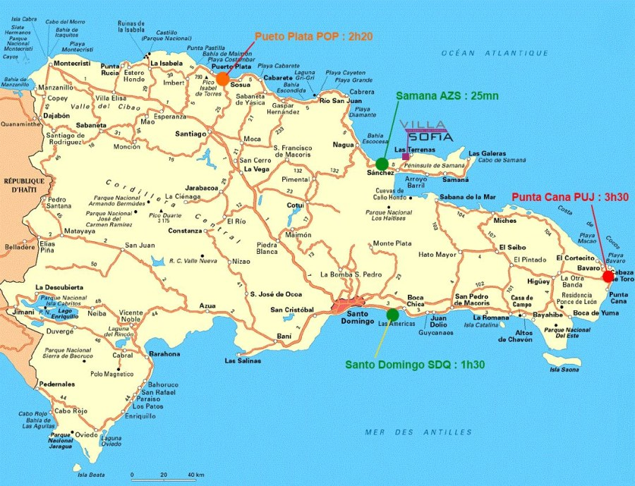 Villa Sofia – Rates 2014-2015 – Airport map of Dominican Republic