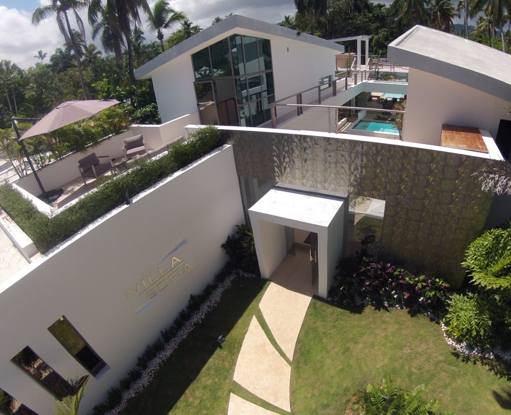 Villa Sofia – View From Above -Entrance & Terraces