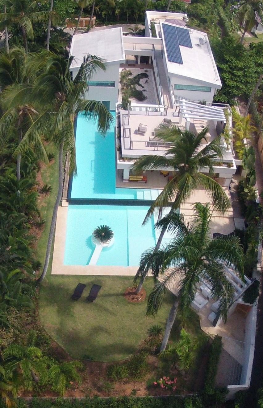 Villa Sofia – View From Above – Pools/Terraces