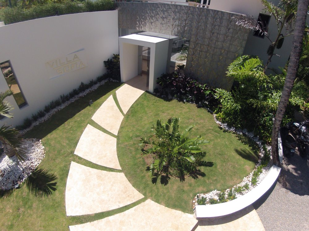 Villa Sofia – View From Above – Entrance
