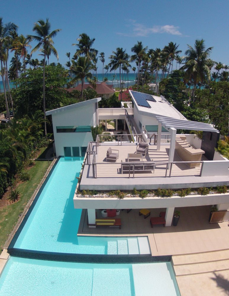 Villa Sofia – View From Above – Pools/Terraces/Ocean View