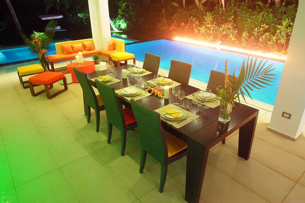 Villa Sofia – Night & Fire – Outdoor Dining